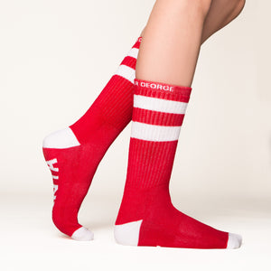 Santa baby socks side profile view