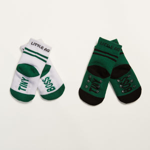 TINY BO$$ socks two pack bottom back view crossed