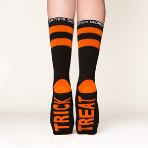 Trick or Treat socks bottom back view