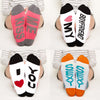 I love You socks Gift Set, kiss me, heart my boyfriend, I heart you, sexy, Bottom Front View Grid