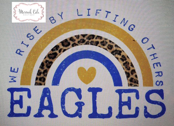 Eagles (blue/gold) We Rise Tee
