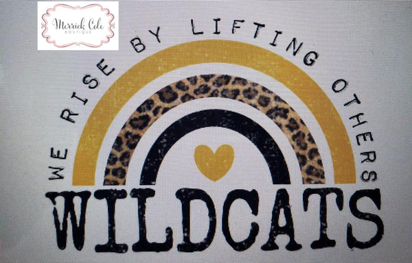 Wildcats (black/gold) We Rise Tee