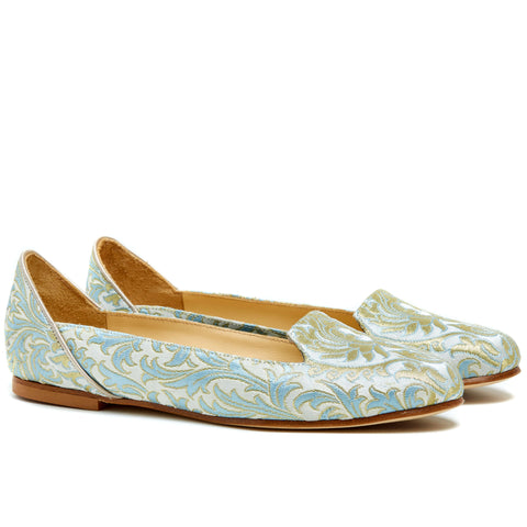 Caspian Waves Blue Ballet Flats
