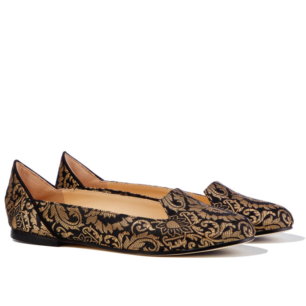 Ballet Flat Shoes, Lotus of Isfahan Flat Shoes - Boté A Mano