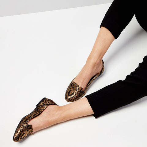 Lotus of Isfahan Flat Shoes