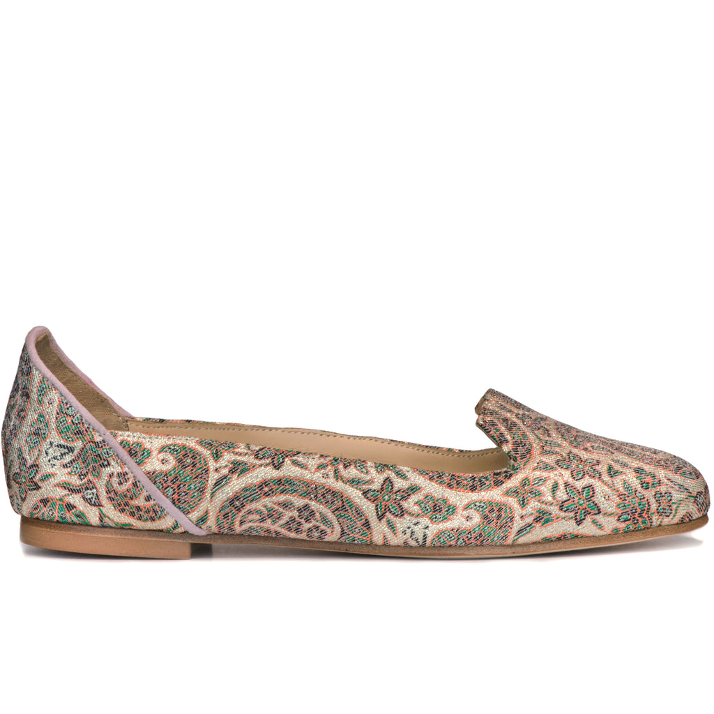 Ballet Flats Designer Shoes For Women Online UK, Rose Garden of Isfahan Pink Ballet Flats - Boté A Mano