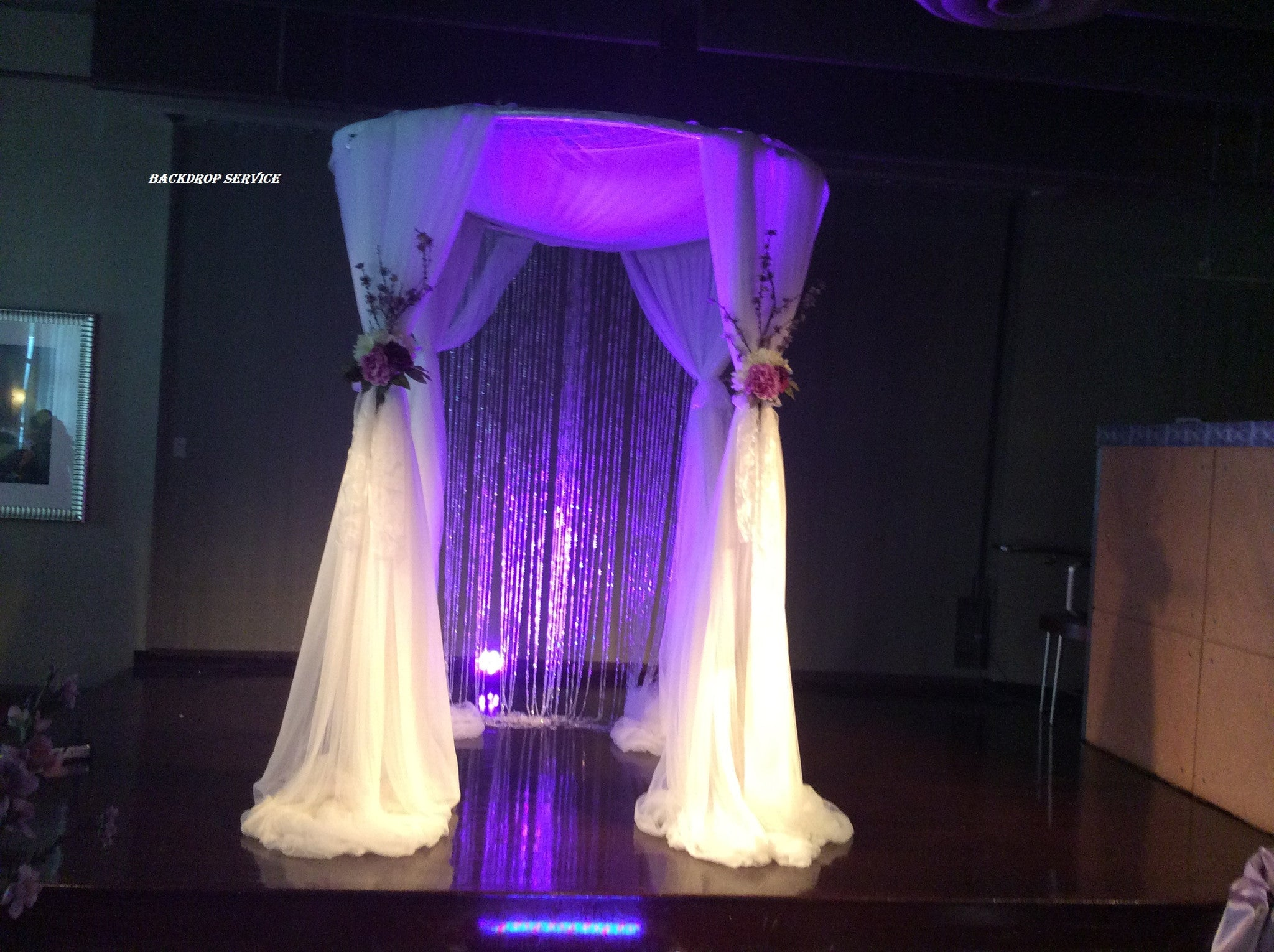 Beautiful Backdrops Ceremony Pipe and Drape  For Rent