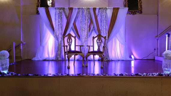 Backdrop with sequin panels- Call to order - Make Me Elegant