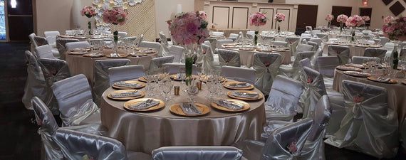 For rent quality Polyester Table Linen Satin Table Linen for rent