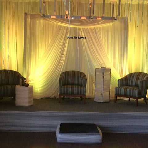 Elegant Ivory Backdrop - Call for Pricing Colors and Style Options - Make Me Elegant