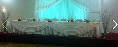 Stage decorations - Backdrop call for pricing style and colors - Make Me Elegant