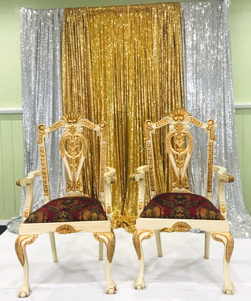 His and Hers King Queen Chair Bridal Party Chairs Rental Only & His and Hers King Queen Chair Bridal Party Chairs Rental Only u2013 Make ...