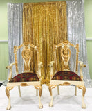 His and Hers King Queen Chair Bridal Party Chairs Rental Only