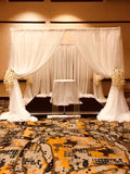Backdrop Wedding Ceremony Reception Sweetheart Table