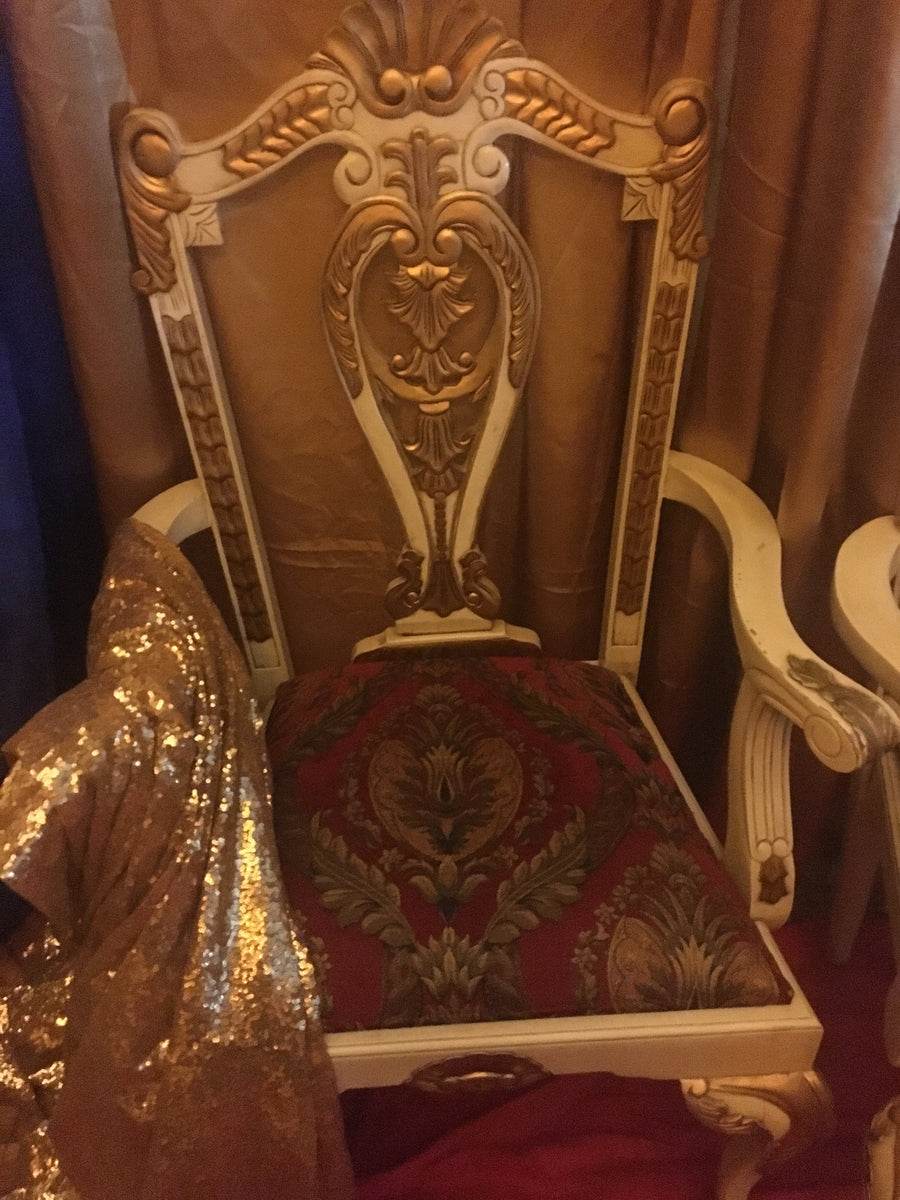 His and Hers King Queen Chair Bridal Party Chairs Rental ...