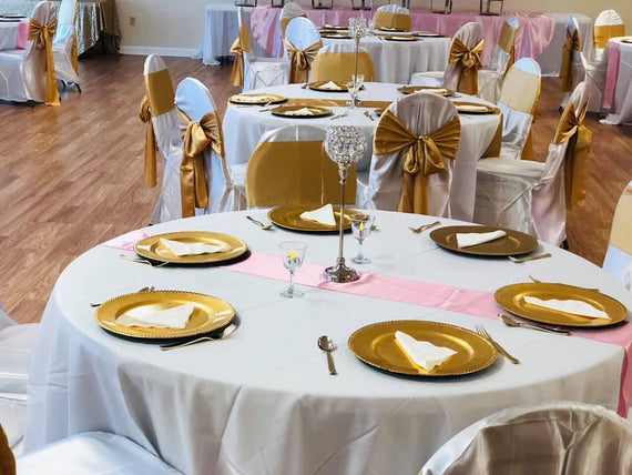Gently Used Banquet Chair Covers White Satin