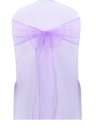 Lavender Organza Chair Sashes for Sale