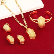 New African Cross Jewelry Sets 24K Gold Plated Fashion Traditional Jewelry Set - Make Me Elegant