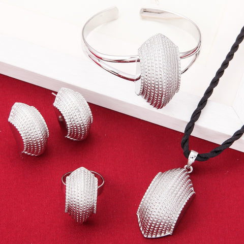 New Cross Jewelry Sets Silver Plated Fashion African Traditional Set - Make Me Elegant