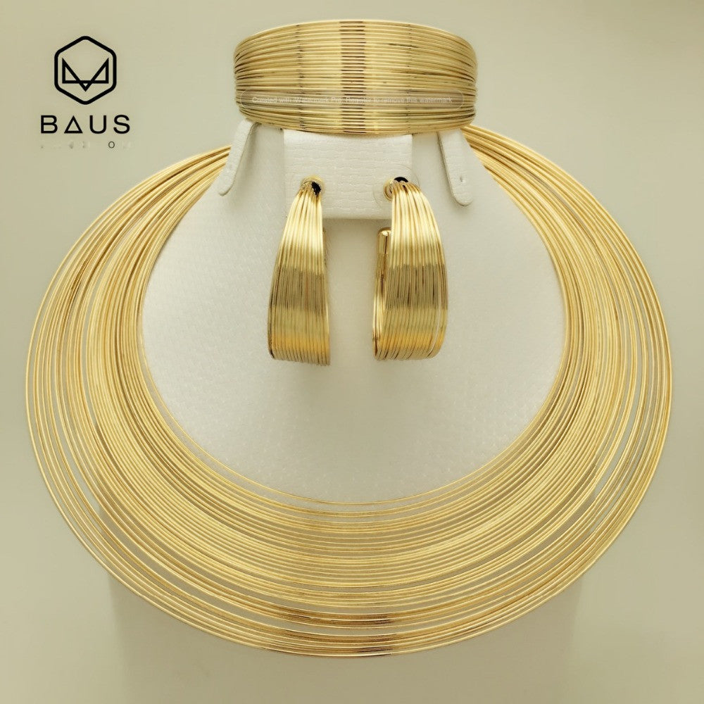 earring jewelry in color item gifts new middle ethiopian heart gold east arab from necklace pendant bridal african sets women plated girls for