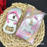 50pcs Personalized pink or blue  bottle opener wedding favors and gifts - Make Me Elegant