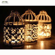 Metal Bird Cage Wedding Candle Holder Lantern Vintage Small Lanterns 3pcs as a set