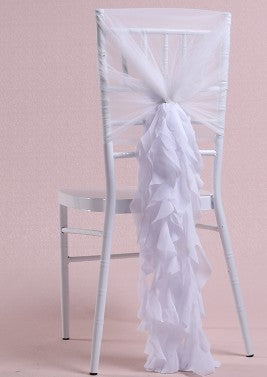 10 pieces Chiffon Bamboo Chair Sash Wedding Decoration Chair Cover Accessories - Make Me Elegant