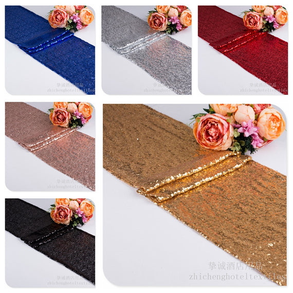 Table Runner  Sequin Gold, Silver, Purple and many more colors - Make Me Elegant