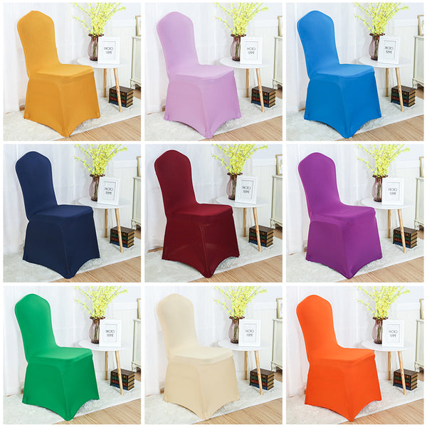 Chair cover spandex stretch banquet chair cover Flat Front for sale - Make Me Elegant