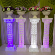 Hollow Design Luminous Wedding Roman Column LED Pillar lot  4 pieces White Red Blue Purple - Make Me Elegant