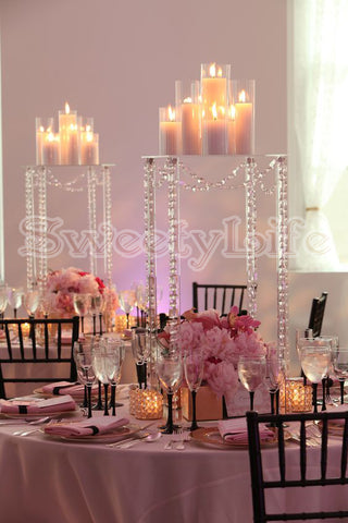 Tall Crystal flower stand 60cm wedding table centerpiece 10pcs/Lot