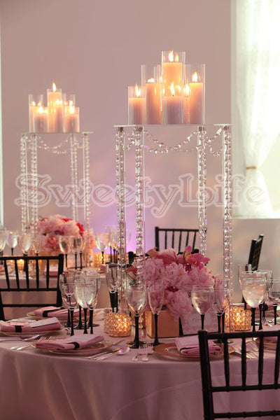 Beautiful Tall Crystal flower stand 23.5 inches tall  wedding table centerpiece 10pcs/Lot