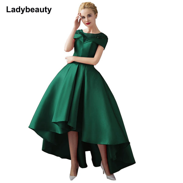 Asymmetrical Ball Gown Prom Evening Dresses Plus Size Available