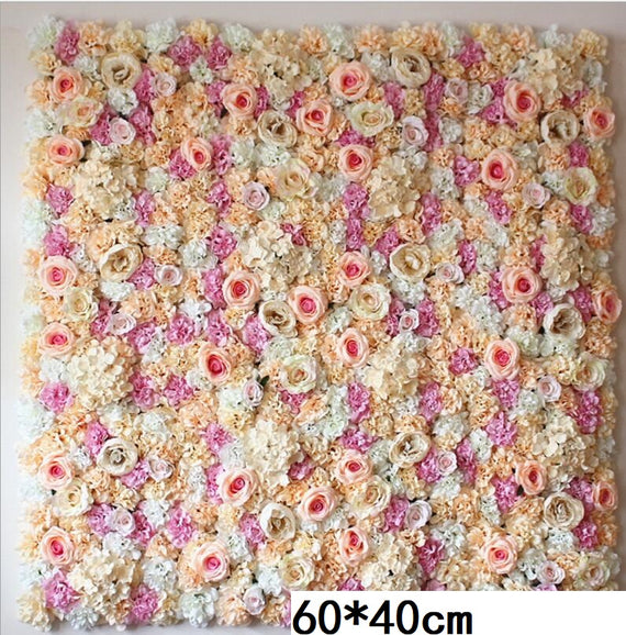 Flower Wall 60X40CM Artificial Silk Rose Wedding Decoration Silk Hydrangea Backdrop