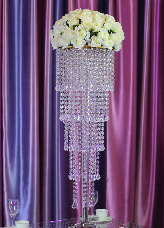 Wedding crystal table flower stand beautiful centerpiece