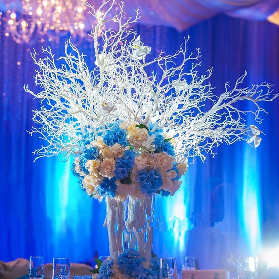 Wedding Decorations White Coral Tree Branches Wedding Centerpiece DIY 10pcs/lot Branches