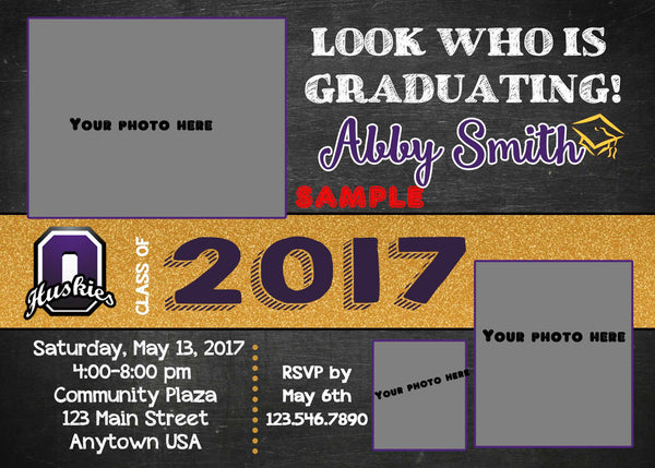 Look Who's Graduation Invitation
