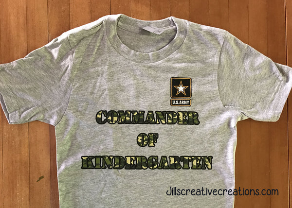Army, Commander of kindergarten T-Shirt