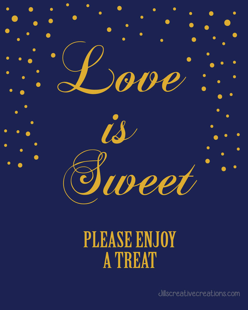 Love is sweet, wedding sign