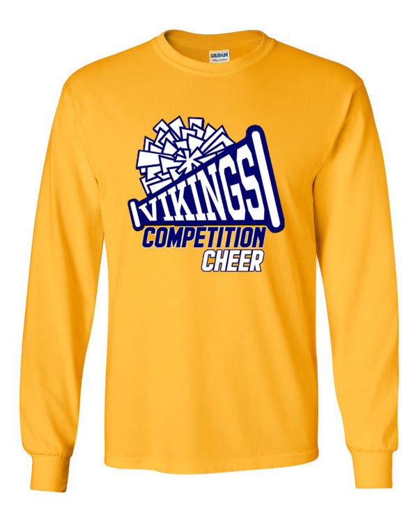 Vernon Cheer Design 1 Long Sleeve, GOLD