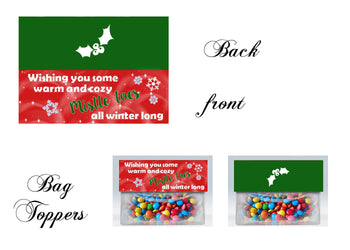 Holiday Bag toppers, Gift tags, Mistletoe