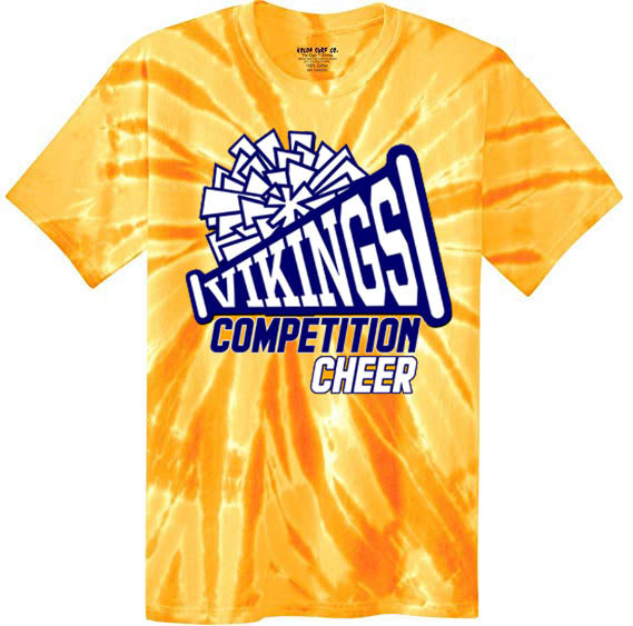 Tie Dye Viking Cheer Shirt, DESIGN 1