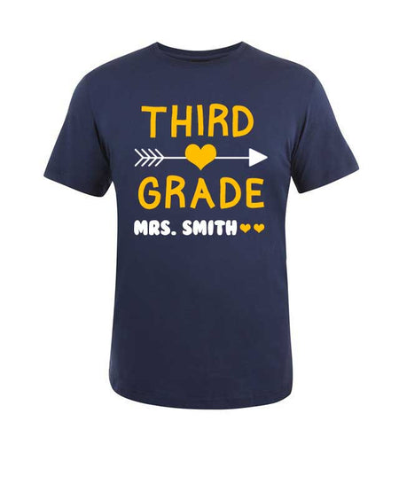 Any Grade Personalized Teacher T-shirt