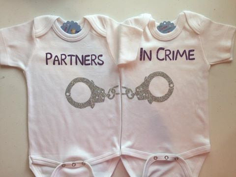 Partners in Crime Twin Bodysuit Set
