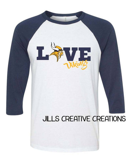 Love (with your team) Raglan Shirt