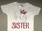 Big Sister, Little Sister Princess Matching Shirt Set