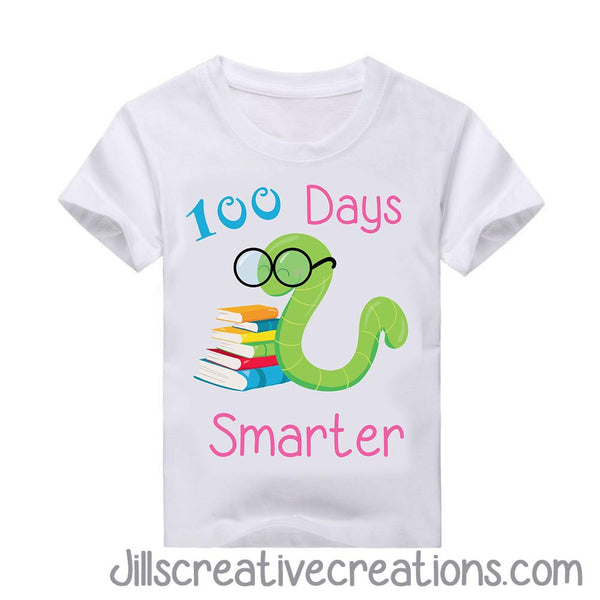 100 Days of School T-shirt, bookworm