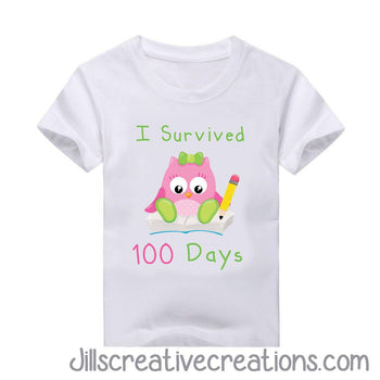 100 Days of School T-shirt, Owl