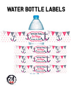 Nautical Baby Shower Water Bottle Labels