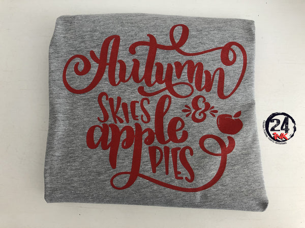 Autumn Skies and Apple Pies T-Shirt, Fall